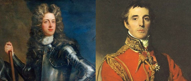Left: 1st Duke of Marlborough Right: 1st Duke of Wellington